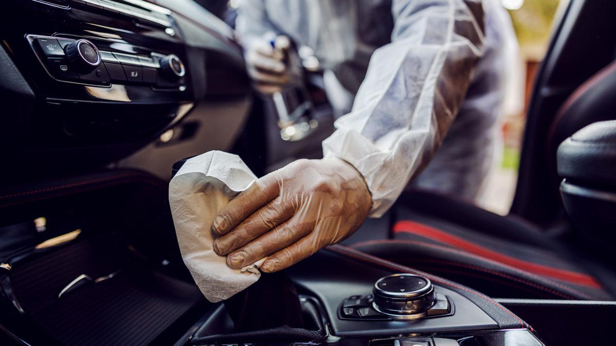 Sanificazione dell'auto