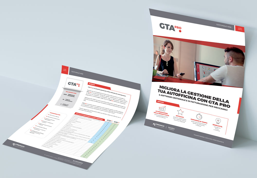 software gestionale e di fatturazione per officine GTA Pro scheda prodotto