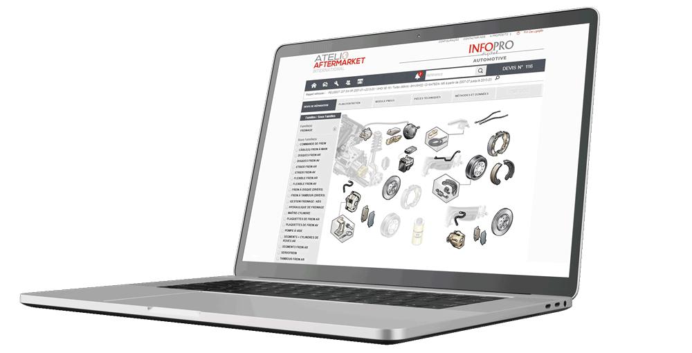 Mockup catálogo de autopeças Atelio Aftermarket Internacional